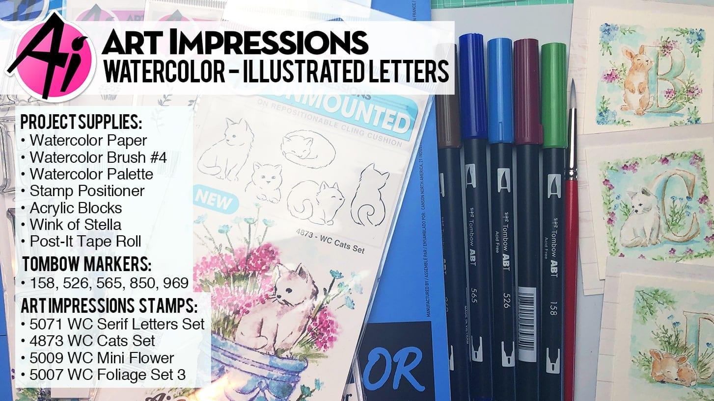 Illustrated Letters - Art Impressions - Teaspoon of Fun