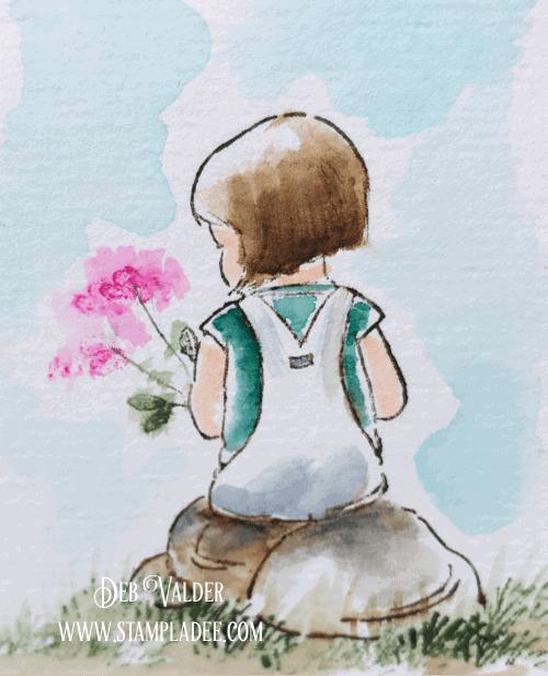Art Impression Watercolor Little Girl with Deb & Vicki
