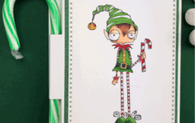Christmas Elf with Candy Cane Hot Chocolate Packet