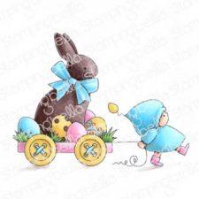 Bundle Girl with Chocolate Bunny