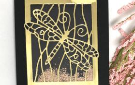 Dragonfly Sand Dunes Shaker Card