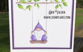 What Brings You Joy is a. Gnome on a Swing with a sneaky caterpillar