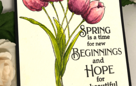 learn to watercolor with pans and tulips