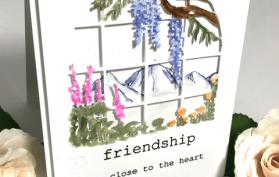 Watercolor Window on the Garden scenery card