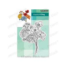 flower bouquet stamp penny black