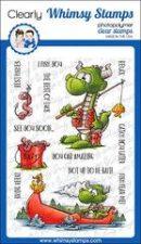 dragon fishing clear stamp set