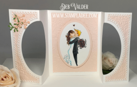 This new die suite created theCenter cut accordion fold card