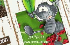 Ant-i-stress with this cute ants attending a picnic card!