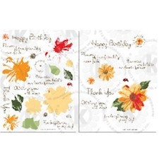 daisy layered stamp set
