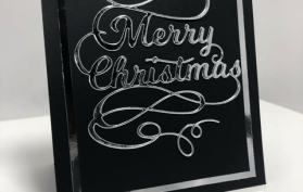 An Easy Elegant Christmas Card Idea, all products can be found in the Teaspoon of Fun Shoppe