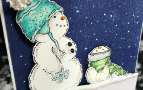 Slimline with Mama and Baby Snowman and Deb Valder. All products can be found in our Teaspoon of Fun Shoppe.