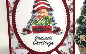 Gnome House Trifold Card. All products can be found in our Teaspoon of Fun Shoppe.