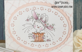 Happy Easter Bonnet. Bonnie Bunny and Spring Ovals Die is great for Easter or Mother's Day