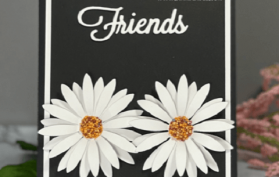 Clean & Simple, Black & White, Elegant - this card has it all. All products can be found in our Teaspoon of Fun Shoppe.