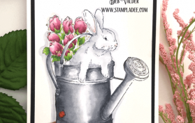 Rabbit in the Garden reminds me of Peter Rabbit. All products can be found in our Teaspoon of Fun Shoppe.