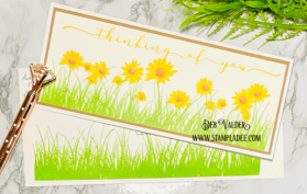 This slimline is Rolling Meadow of Wildflowers. All products can be found in our Teaspoon of Fun Shoppe.