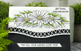 Black and White Daisy Edger Die. All products can be found in our Teaspoon of Fun Shoppe www.TeaspoonOfFun.com/SHOP
