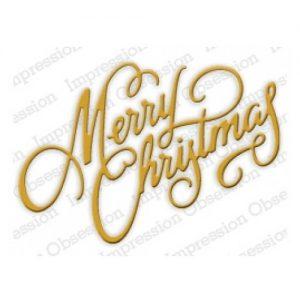 merry christmas die elegant